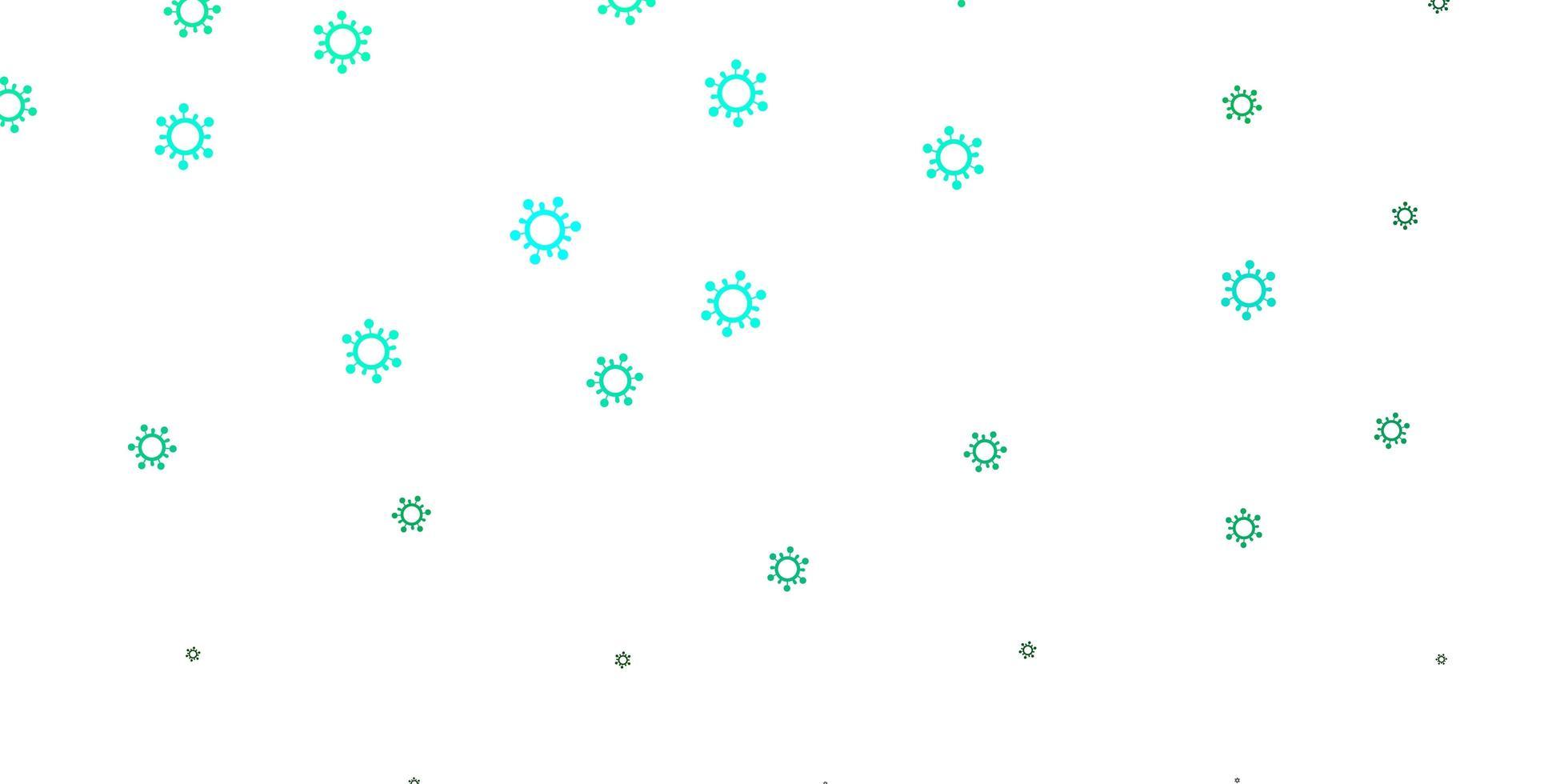 ljusgrönt vektormönster med coronaviruselement. vektor