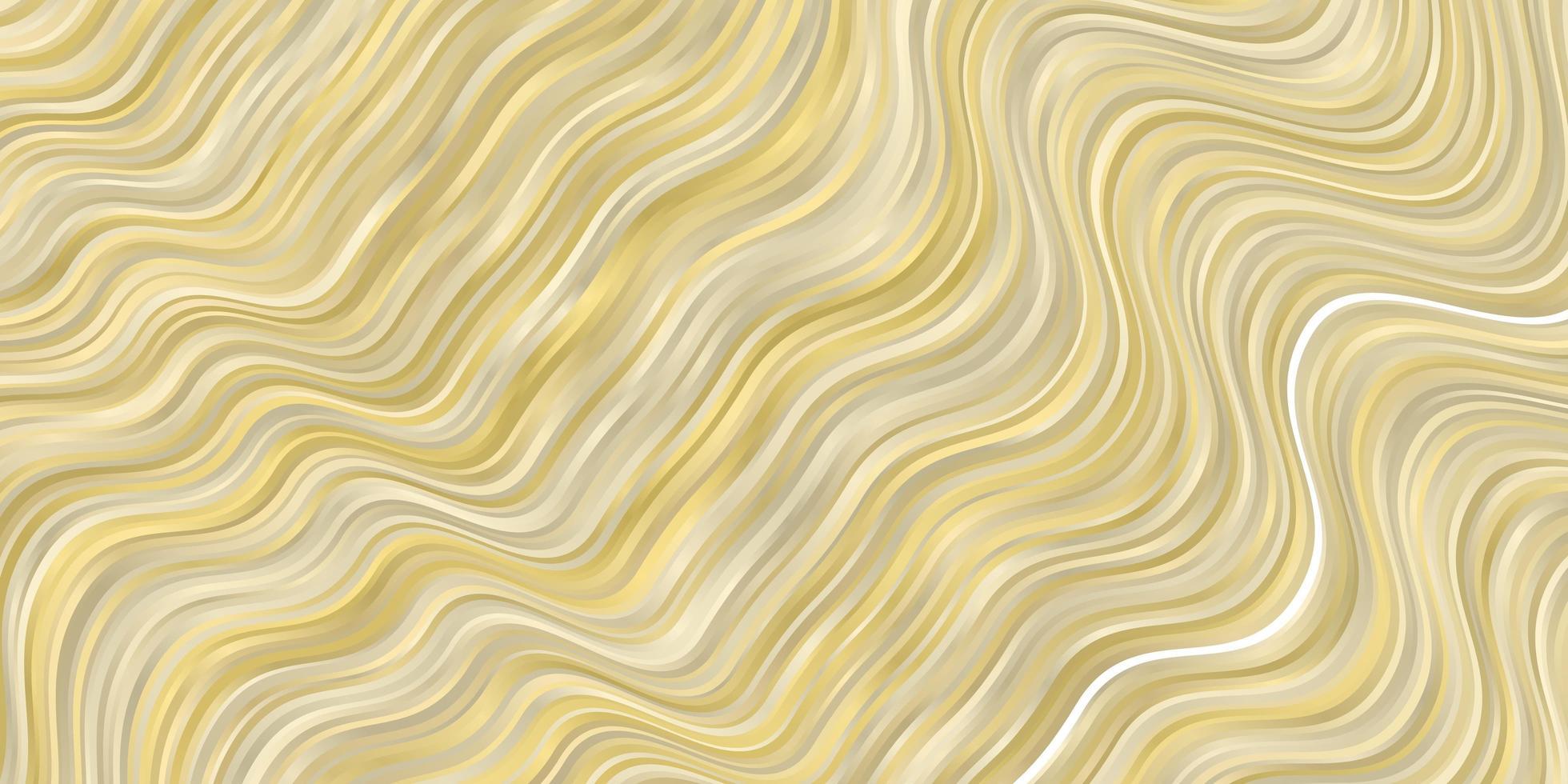 ljusgul vektorbakgrund med böjda linjer. vektor