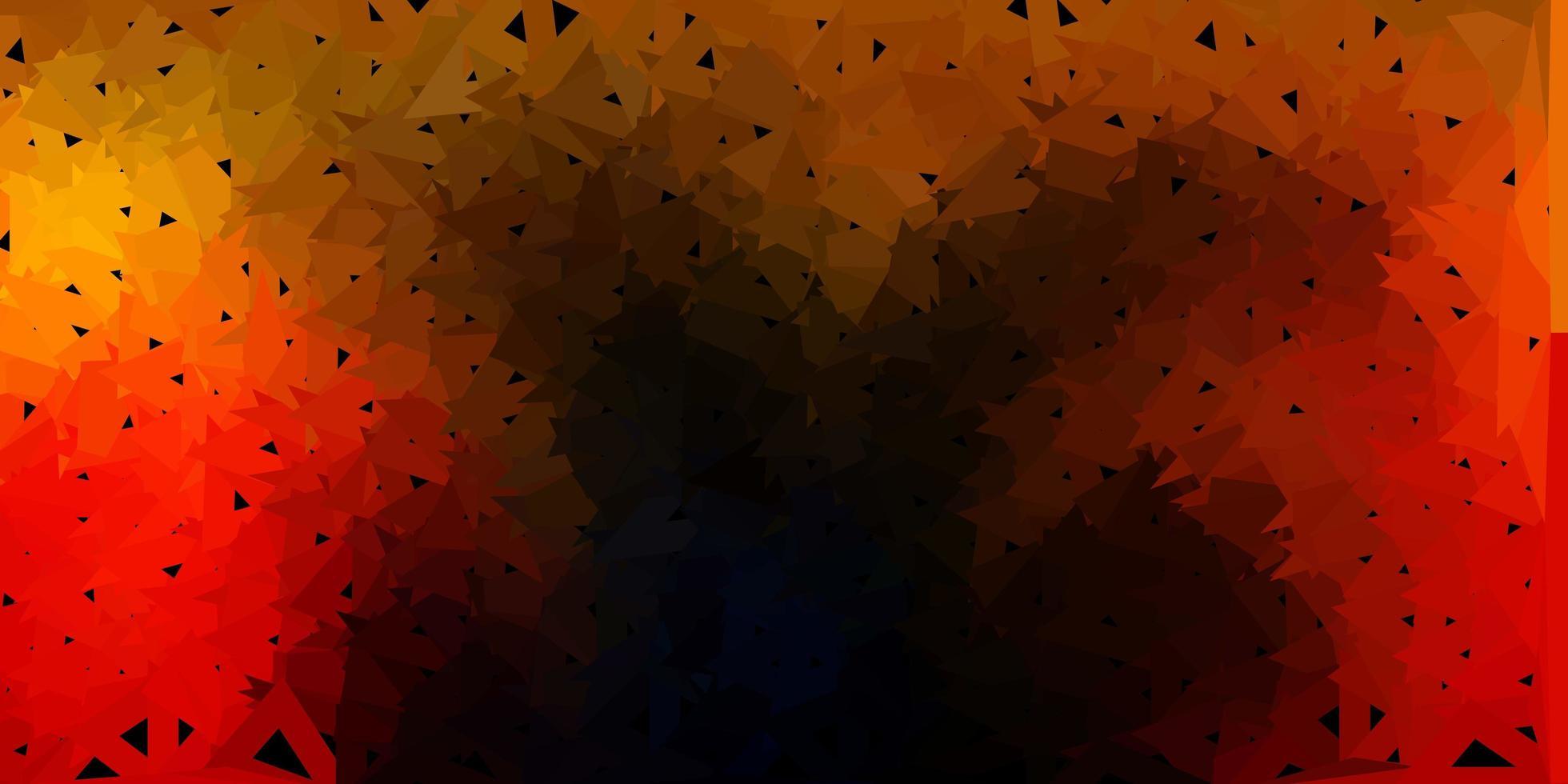 polygonaler Hintergrund des dunkelorangen Vektors. vektor