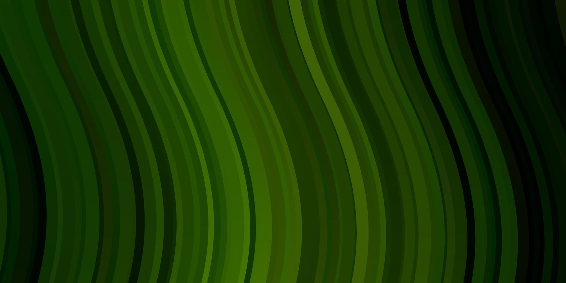 ljusgrön vektormall med böjda linjer. vektor