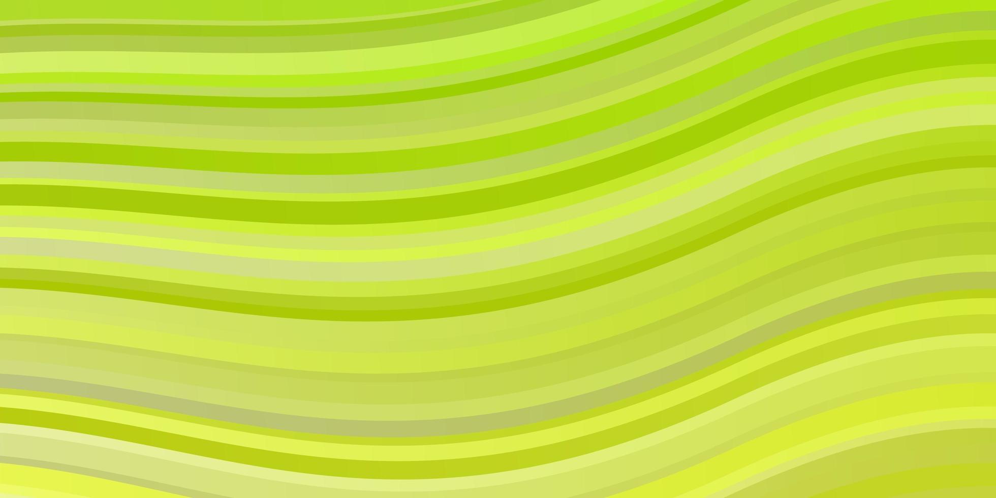 ljusgrön, gul vektorlayout med kurvor. vektor