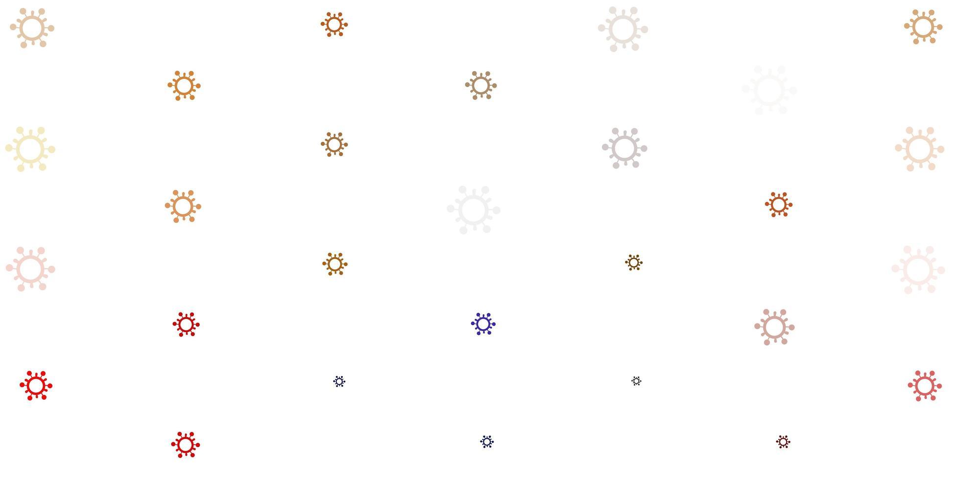 hellorange Vektorschablone mit Grippezeichen vektor