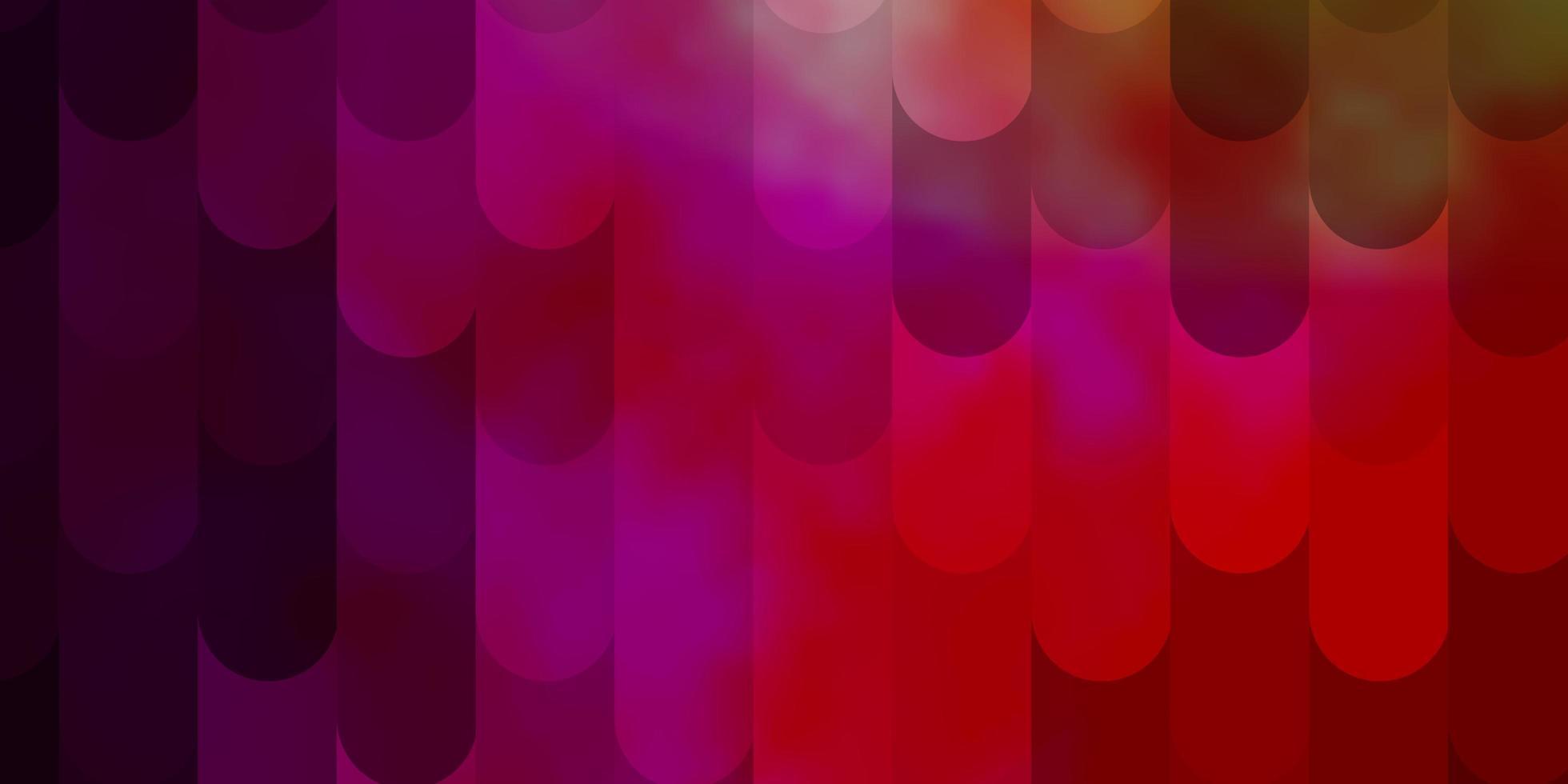 ljusrosa, gult vektormönster med linjer. vektor