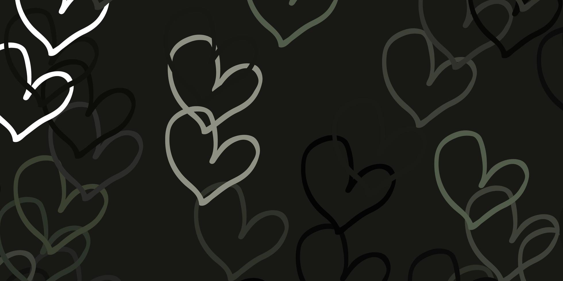hellgraues Vektormuster mit bunten Herzen. vektor