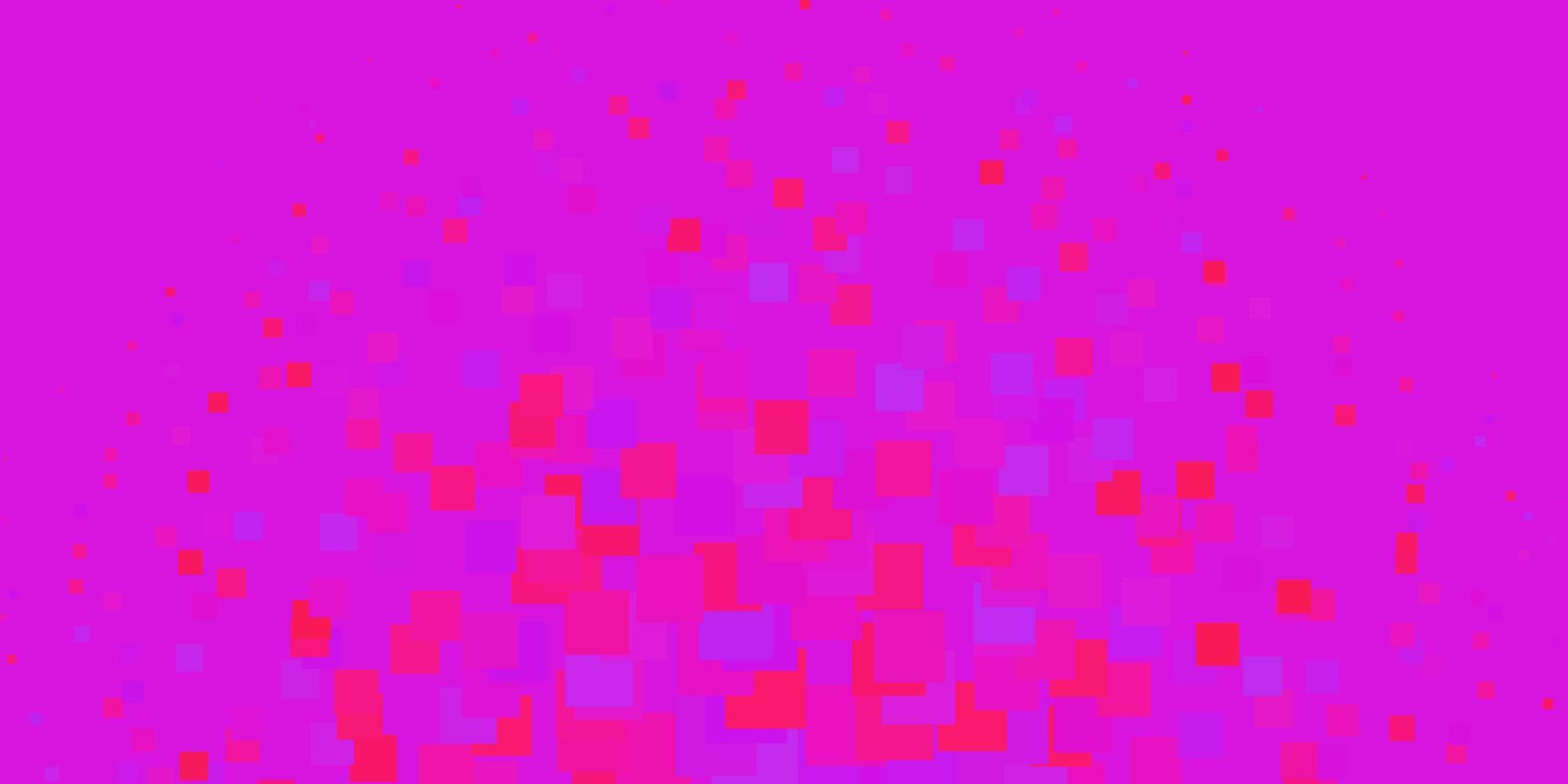 ljuslila, rosa vektormönster i fyrkantig stil. vektor