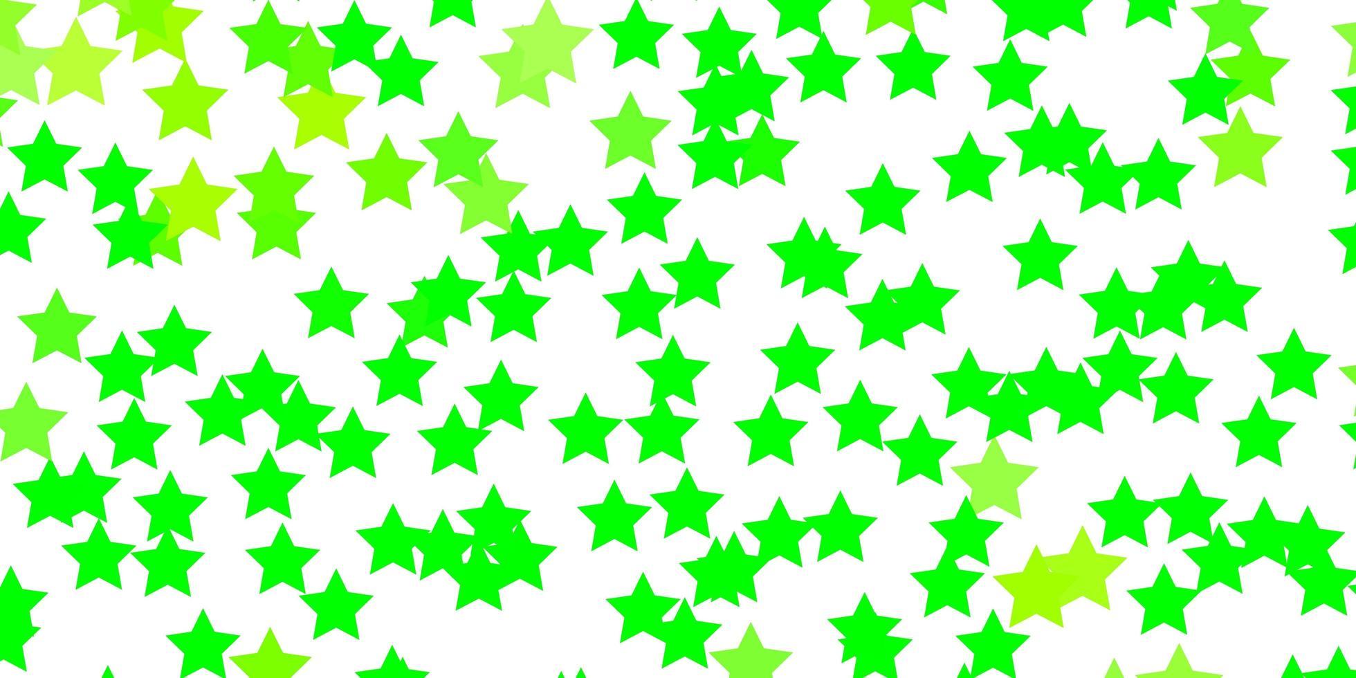 hellgrünes, gelbes Vektorlayout mit hellen Sternen. vektor