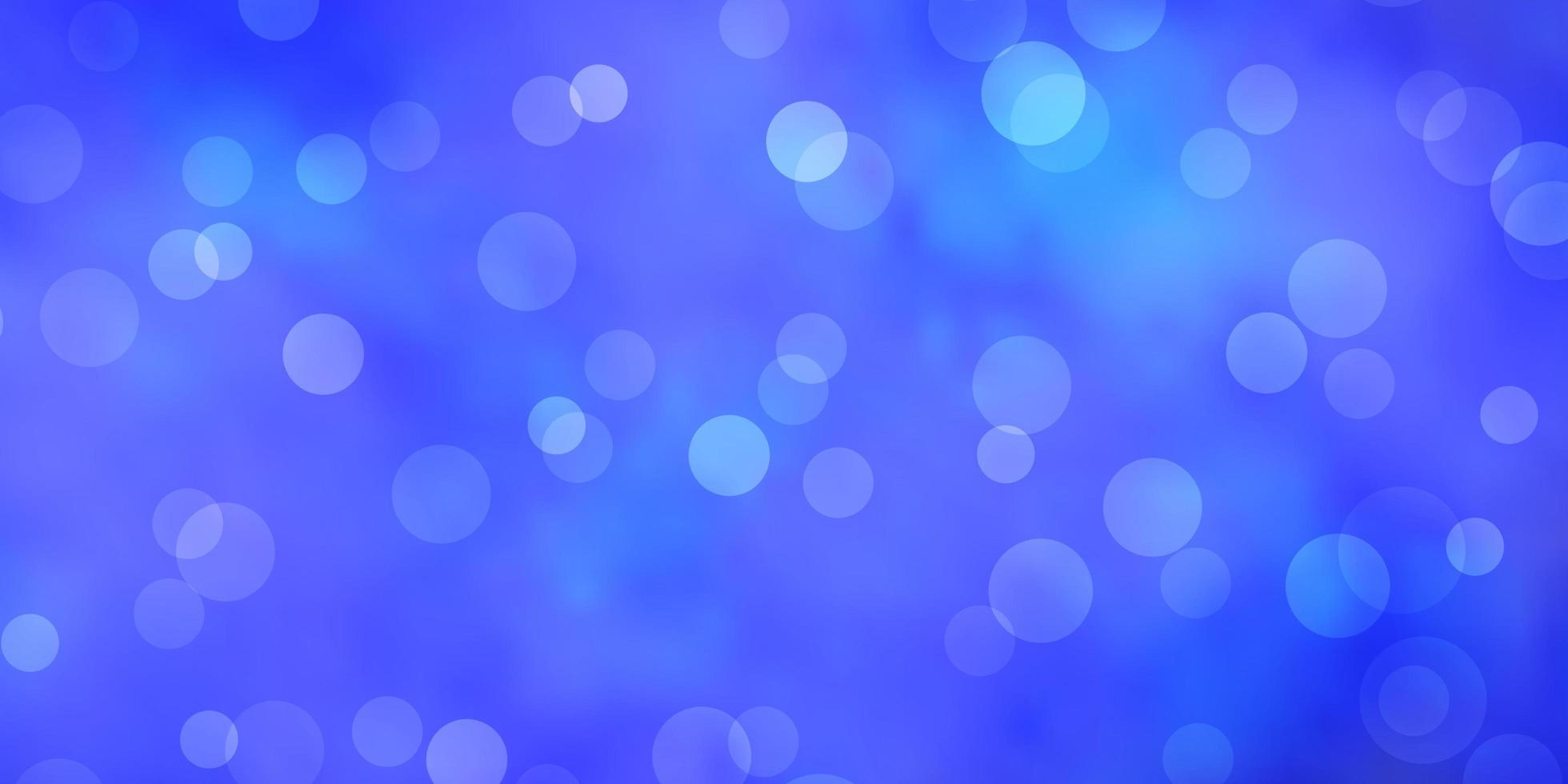 hellblaue Vektorschablone mit Kreisen vektor