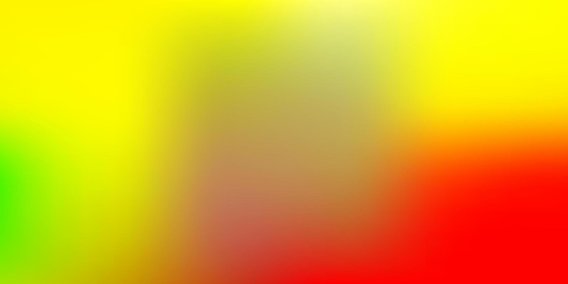 ljusröd, gul vektorgrafik oskärpa ritning. vektor