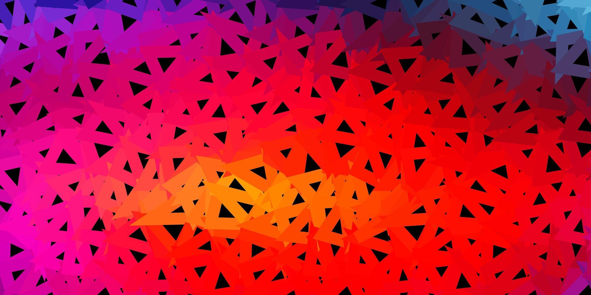 ljus flerfärgad vektor geometrisk polygonal layout.