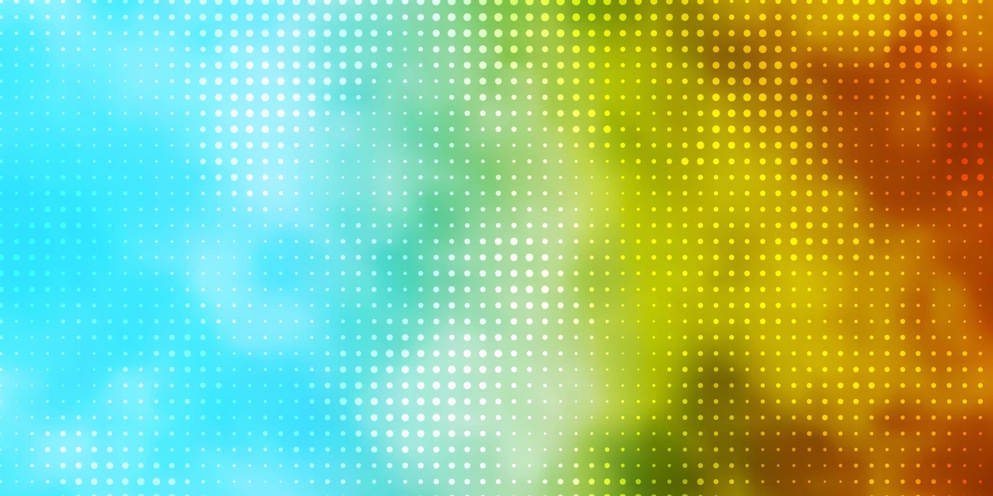 hellblaue, gelbe Vektortextur mit Scheiben. vektor