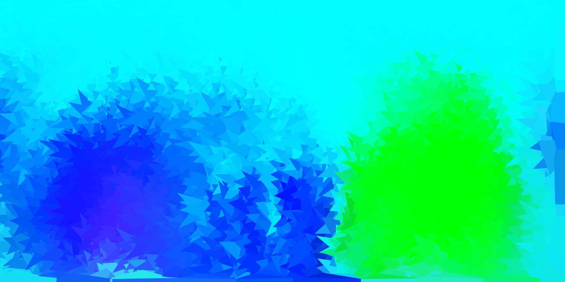 ljusblå, grön vektor gradient polygon design.