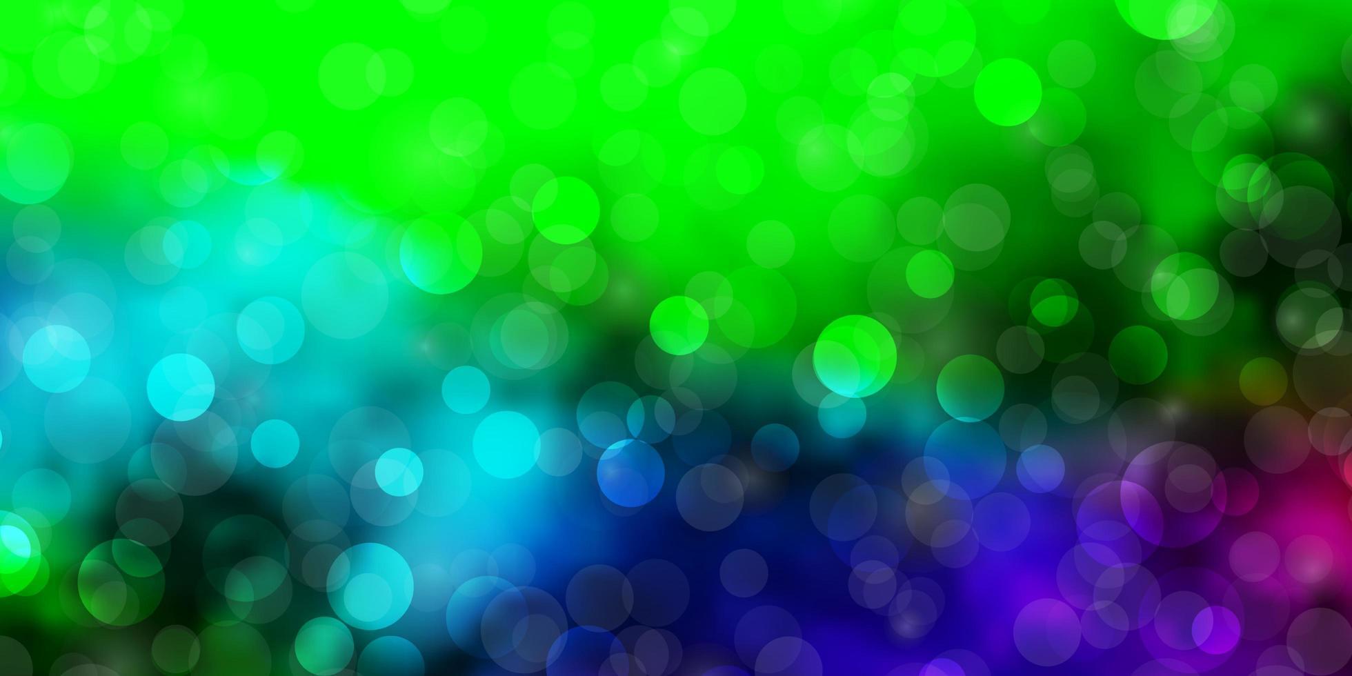 mörkt flerfärgat vektormönster med cirklar. vektor