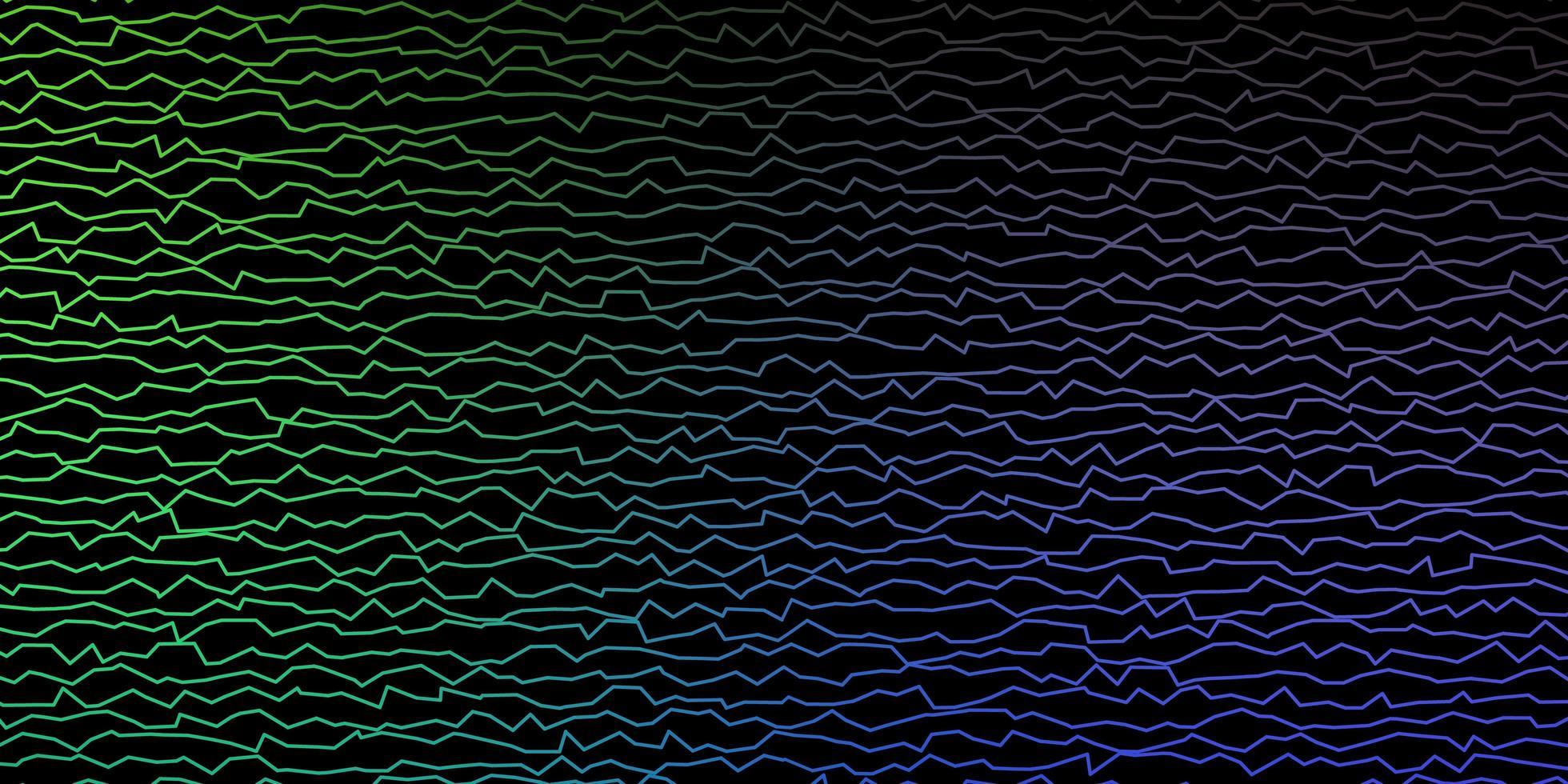dunkelblauer, grüner Vektorhintergrund mit Bögen. vektor