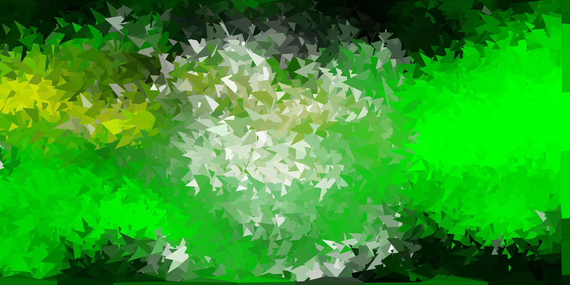ljusgrönt, gult triangelmosaikmönster. vektor