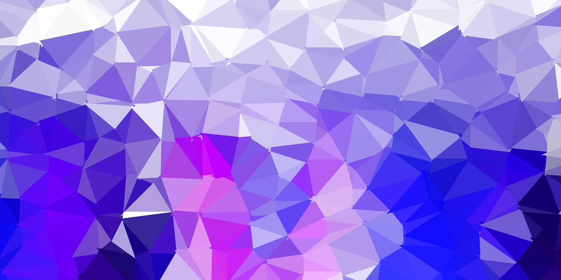 mörkrosa, blå vektor polygonal bakgrund.