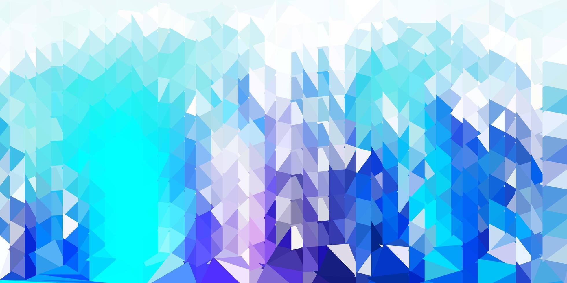 ljusrosa, blå vektor abstrakt triangel bakgrund.