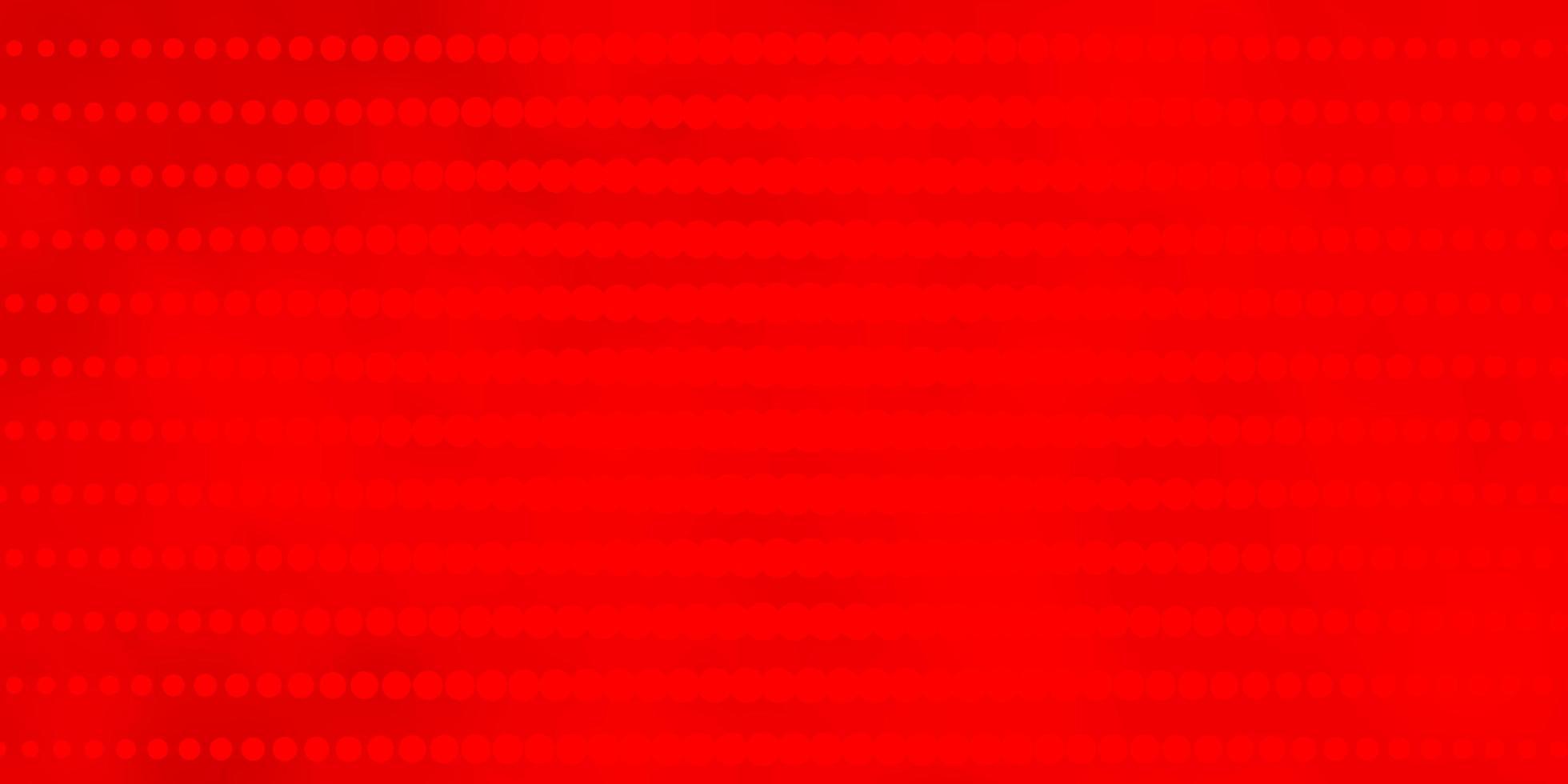 hellroter Vektorhintergrund mit Kreisen. vektor