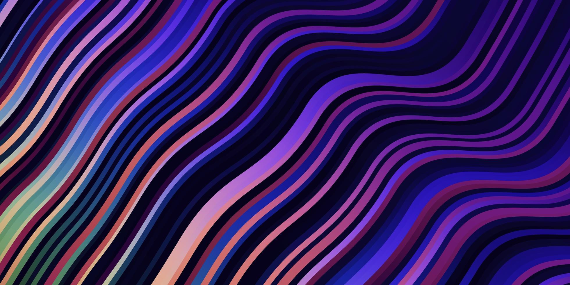 leichtes mehrfarbiges Vektormuster mit Kurven. vektor