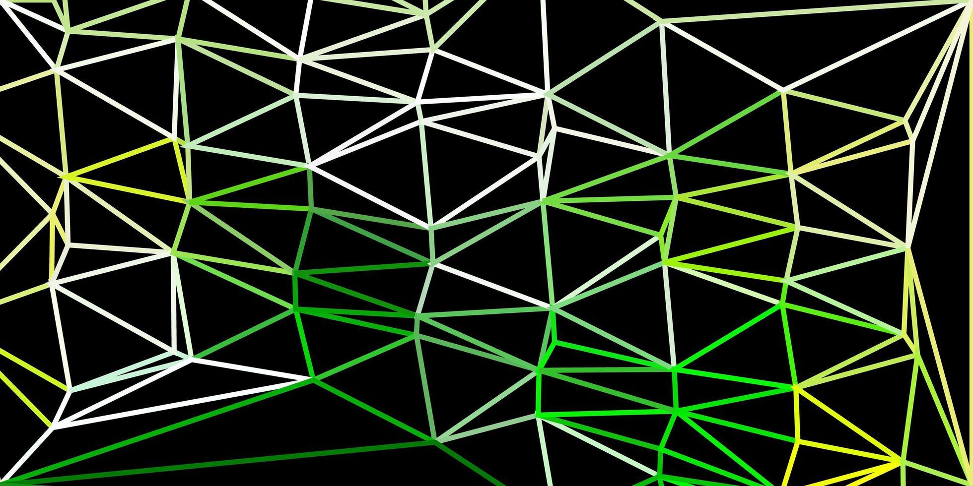 hellgrüne, gelbe Vektor-Poly-Dreiecksschablone. vektor