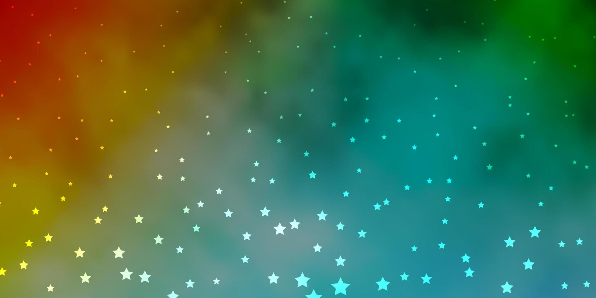 mörkblå, gul vektorstruktur med vackra stjärnor. vektor