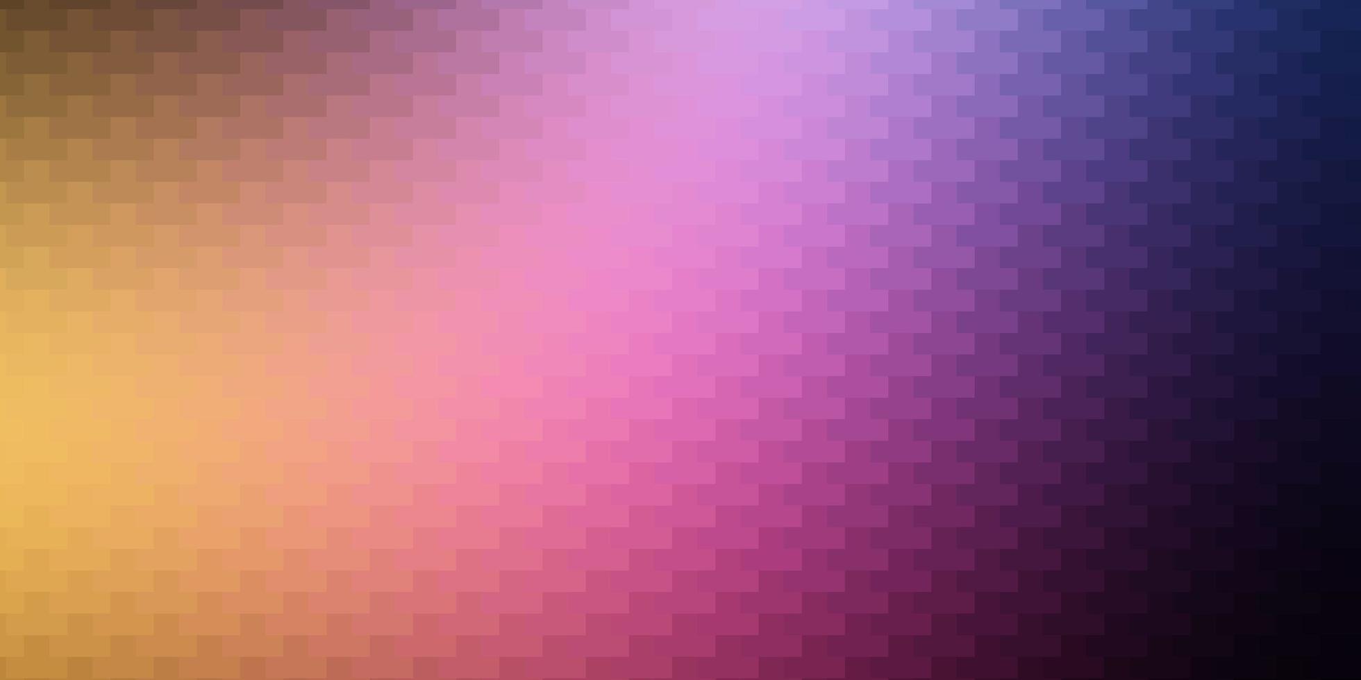 mörkrosa, gul vektorlayout med linjer, rektanglar. vektor