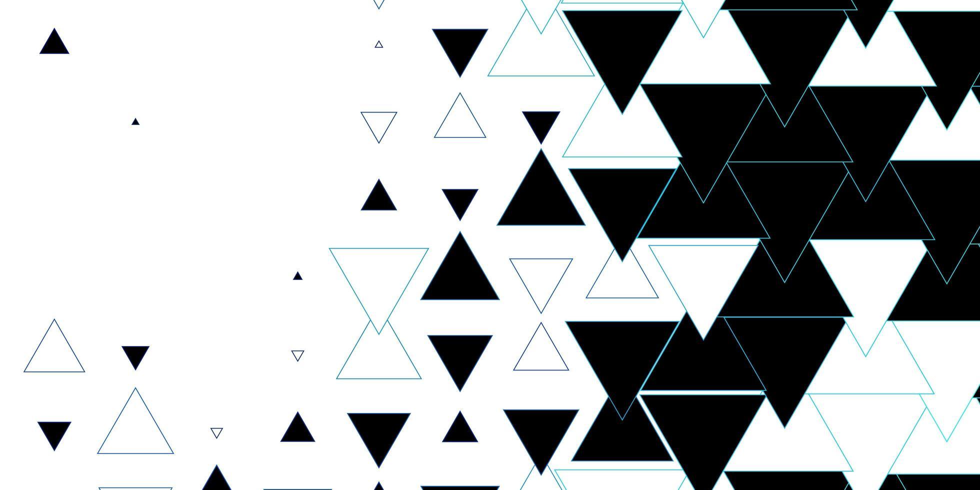 mörkblå vektorbakgrund med linjer, trianglar. vektor