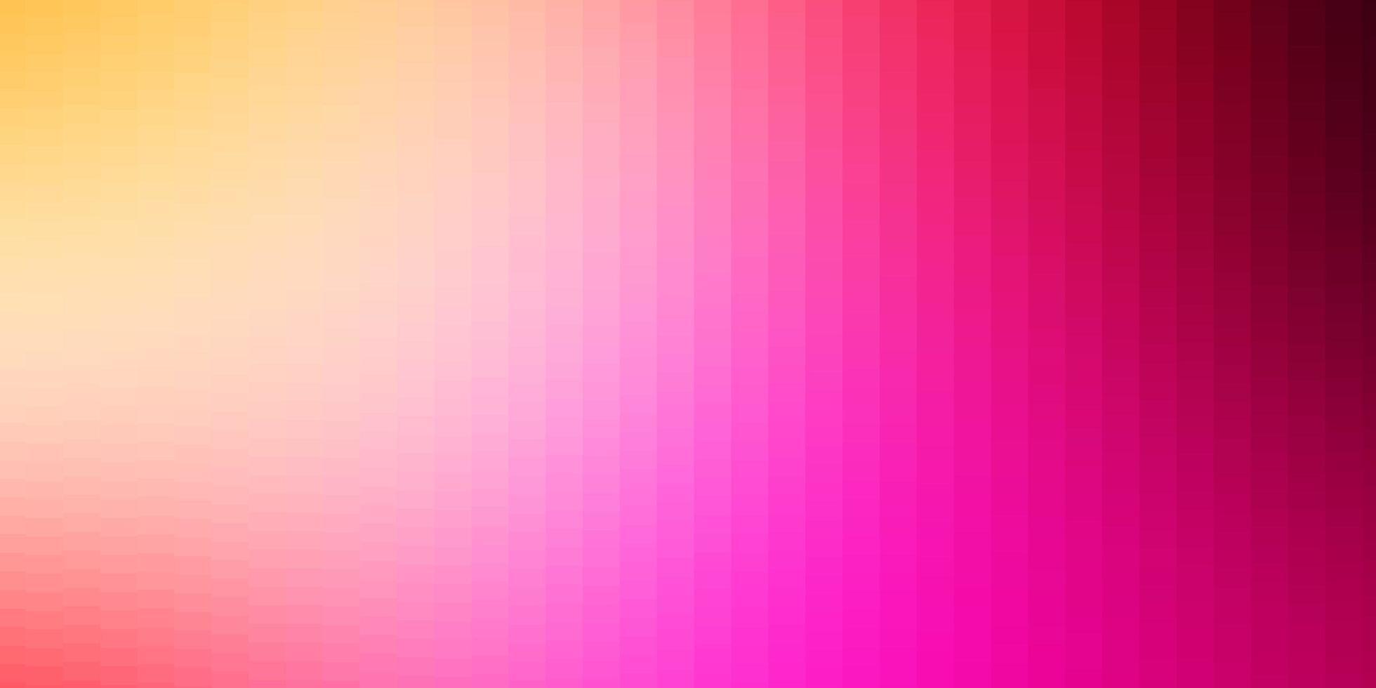 ljusrosa, gula vektormönster i fyrkantig stil. vektor