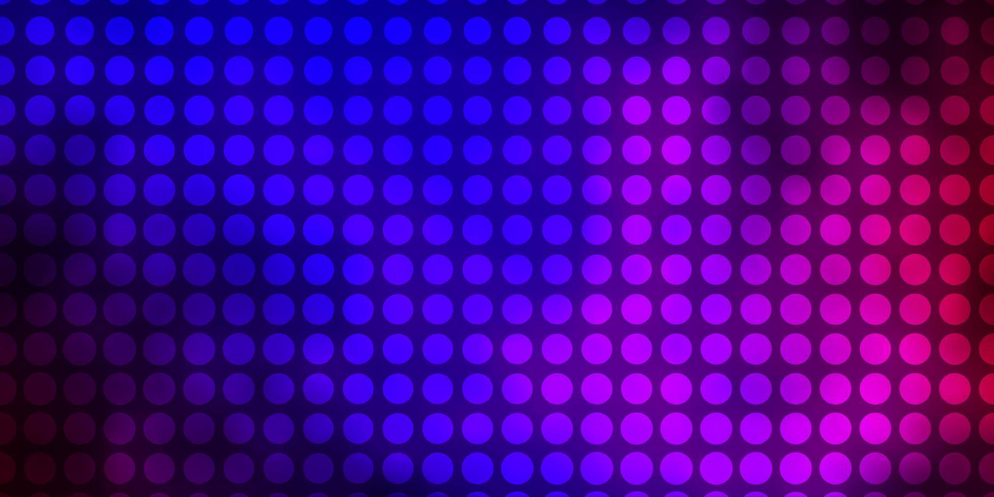 dunkelblaues, rotes Vektormuster mit Kreisen. vektor