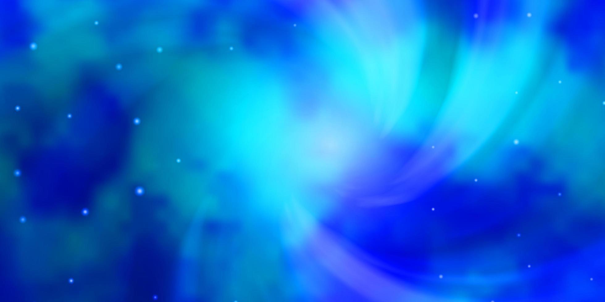 hellblauer Vektorhintergrund mit bunten Sternen. vektor