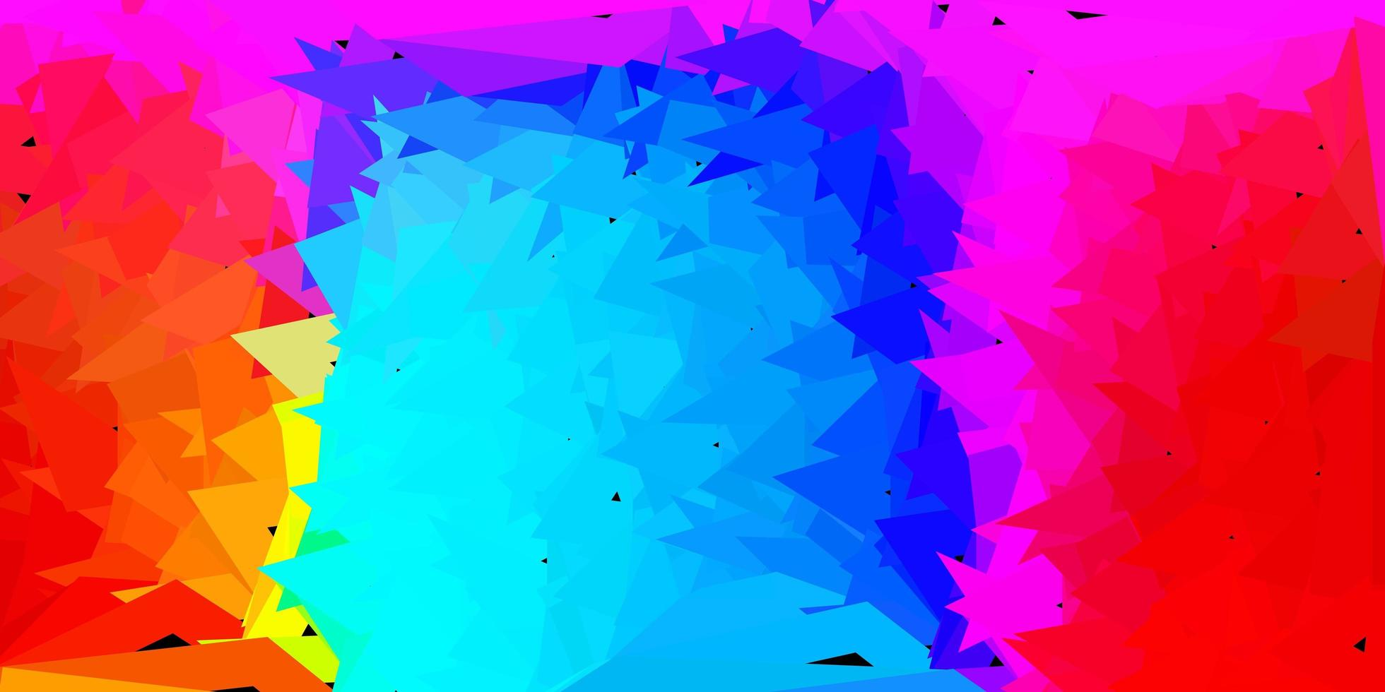 mörkblå, röd vektor triangel mosaik bakgrund.