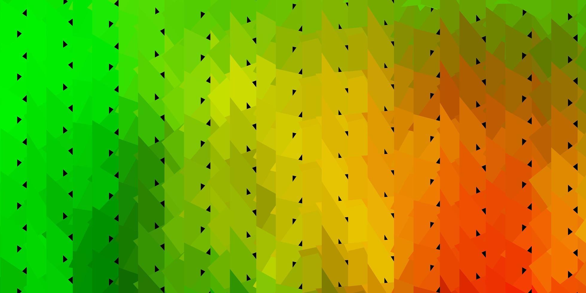 abstrakte Dreiecksbeschaffenheit des dunkelgrünen, gelben Vektors. vektor