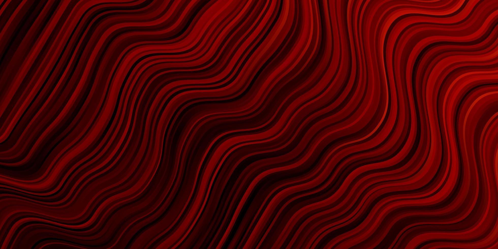 mörk röd vektor layout med kurvor.