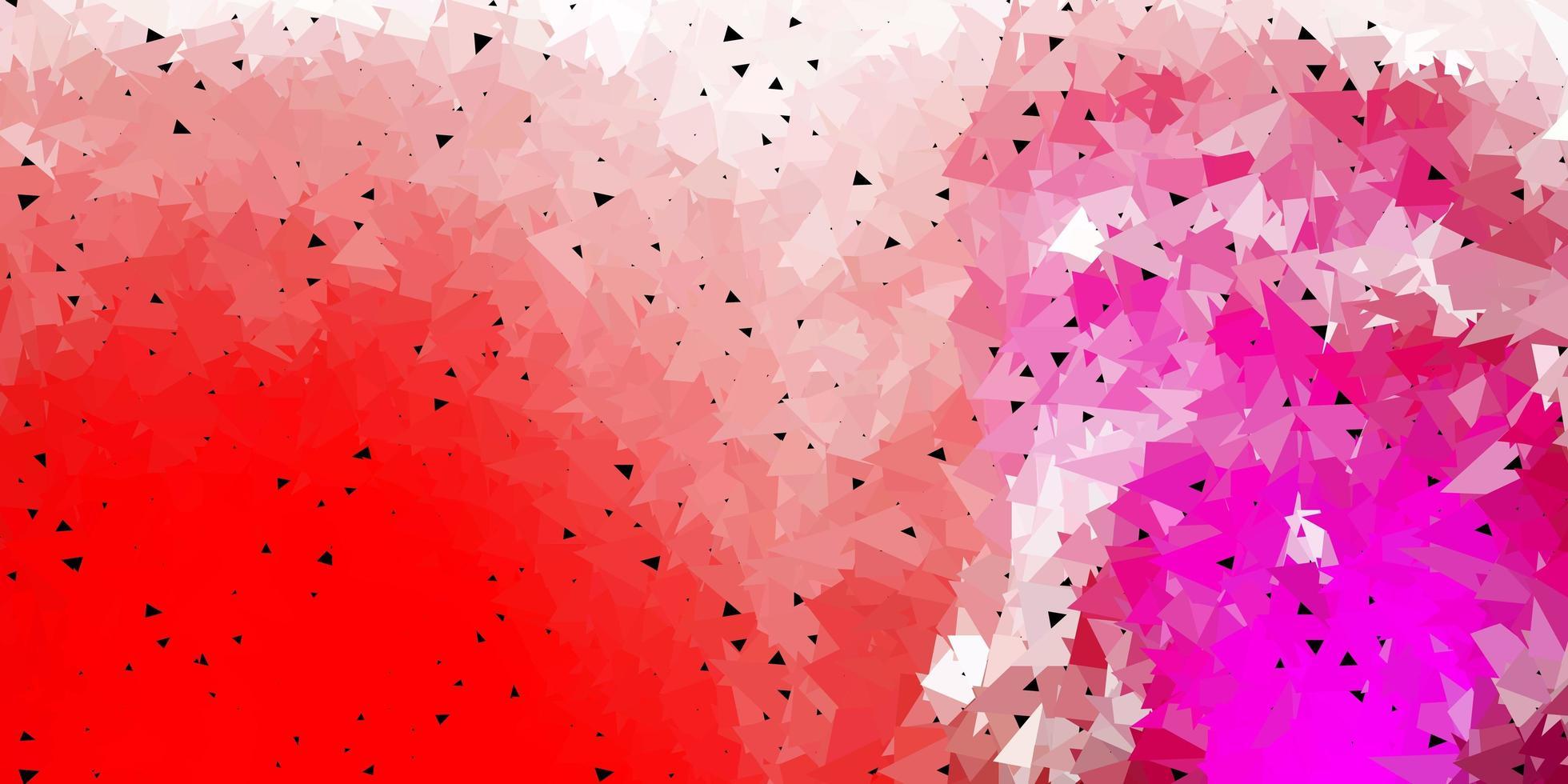 mörk lila, rosa vektor poly triangel mall.