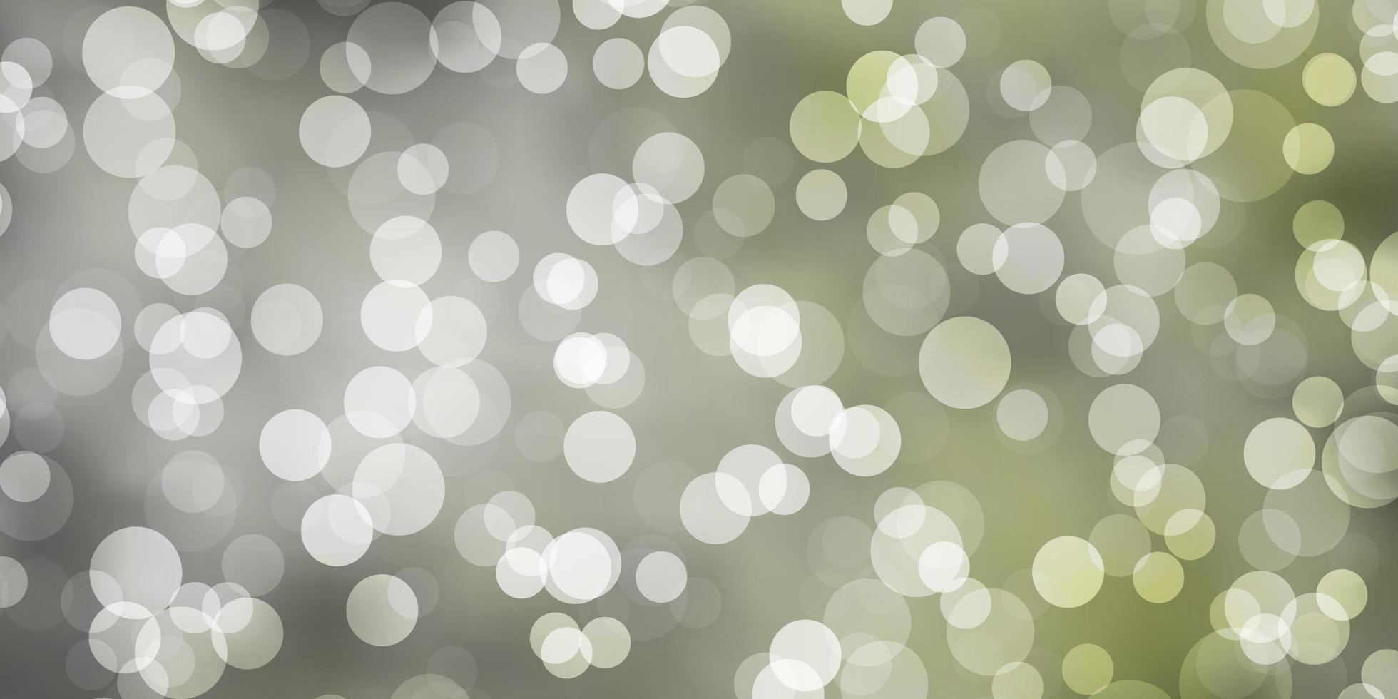 ljusgrön vektorstruktur med cirklar. vektor
