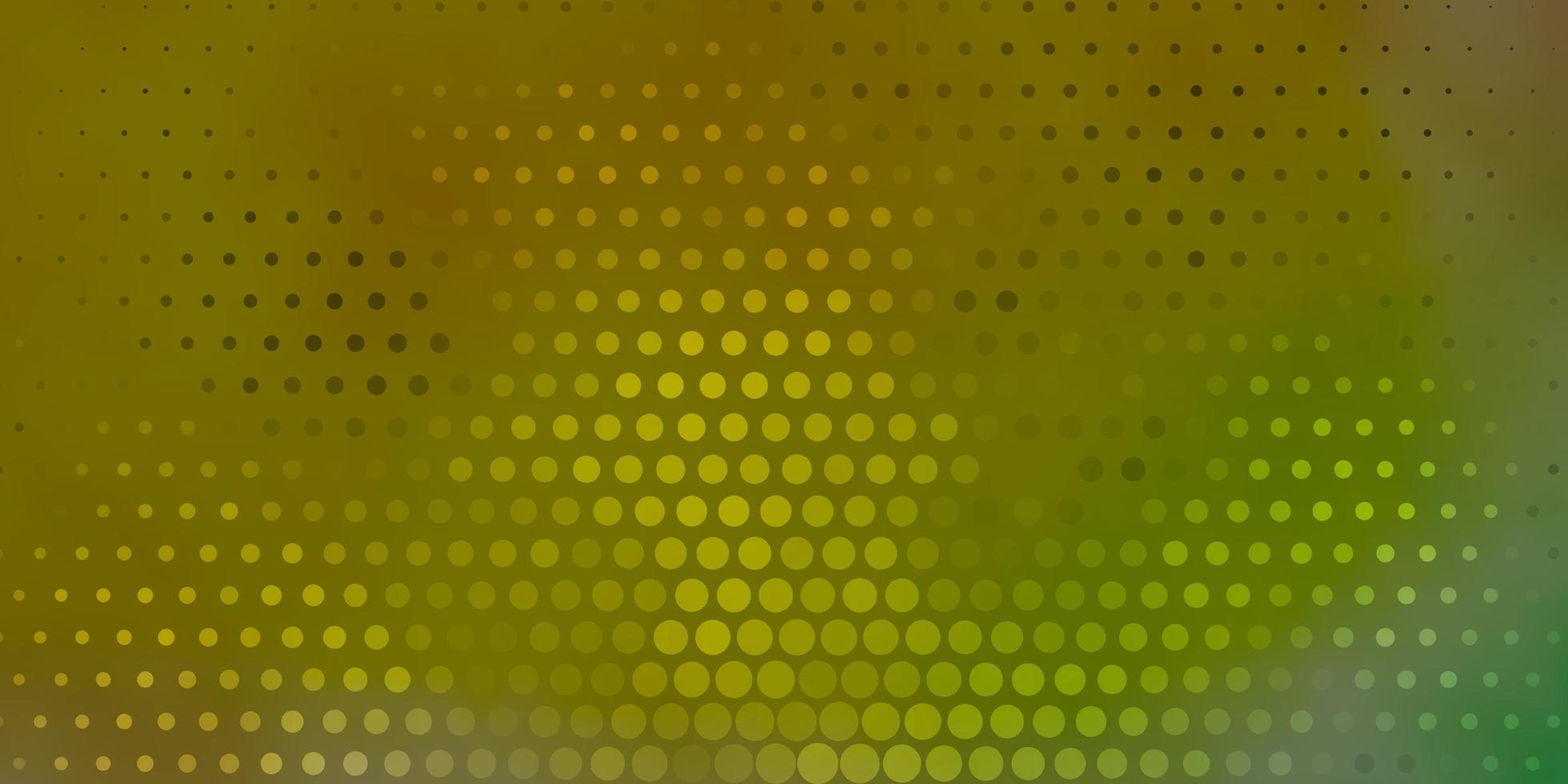 hellgrüner, roter Vektorhintergrund mit Flecken. vektor