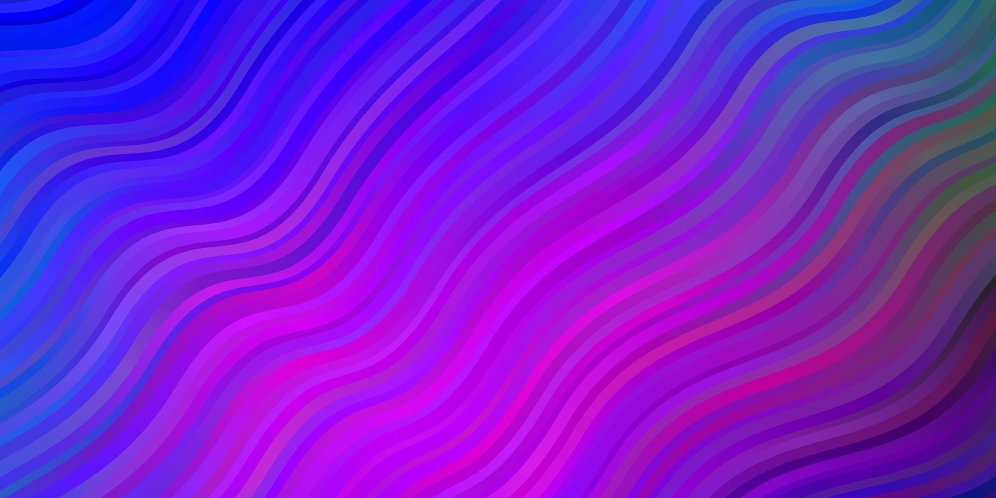 dunkelrosa, blaues Vektormuster mit Linien. vektor