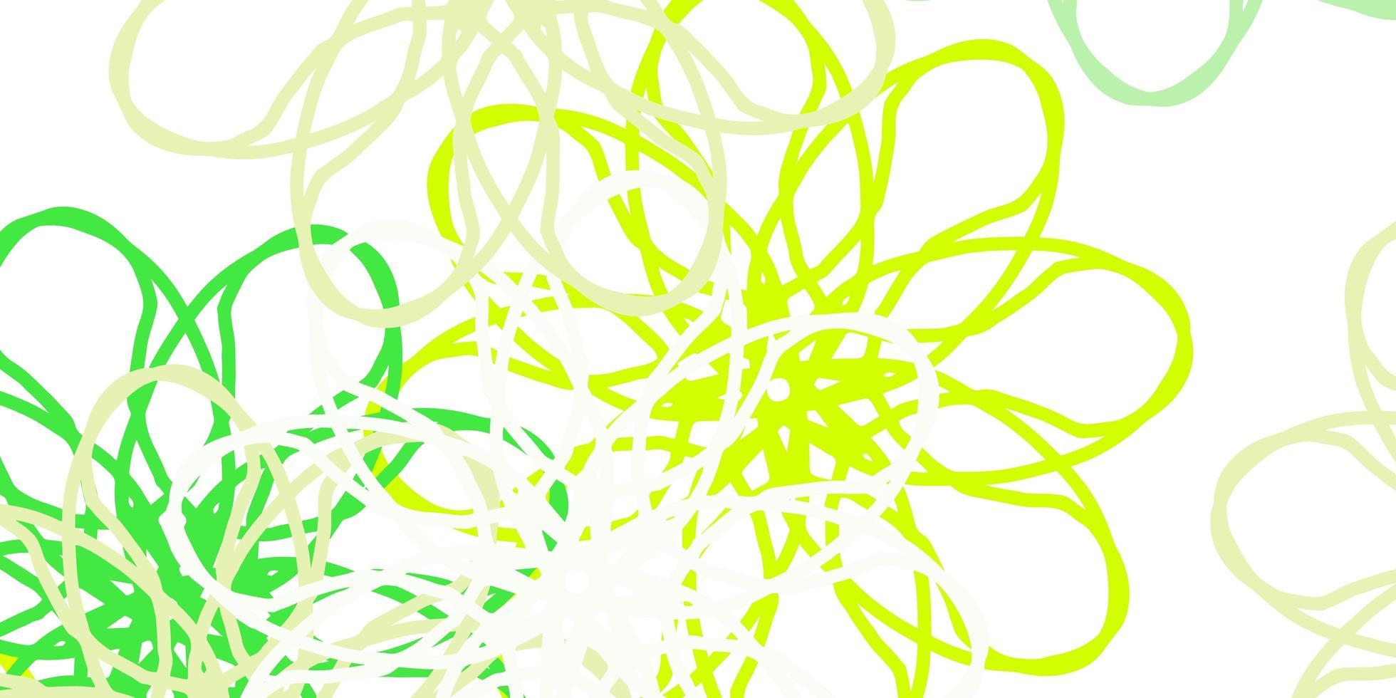 hellgrüne, gelbe Vektor natürliche Grafik mit Blumen.