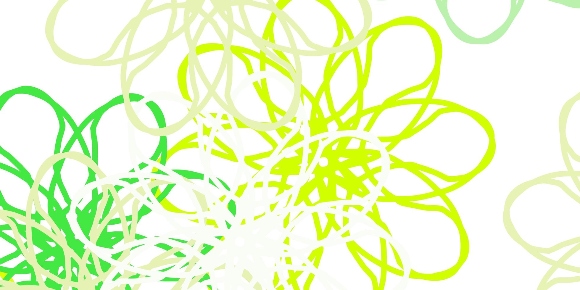 ljusgrön, gul vektor naturligt konstverk med blommor.