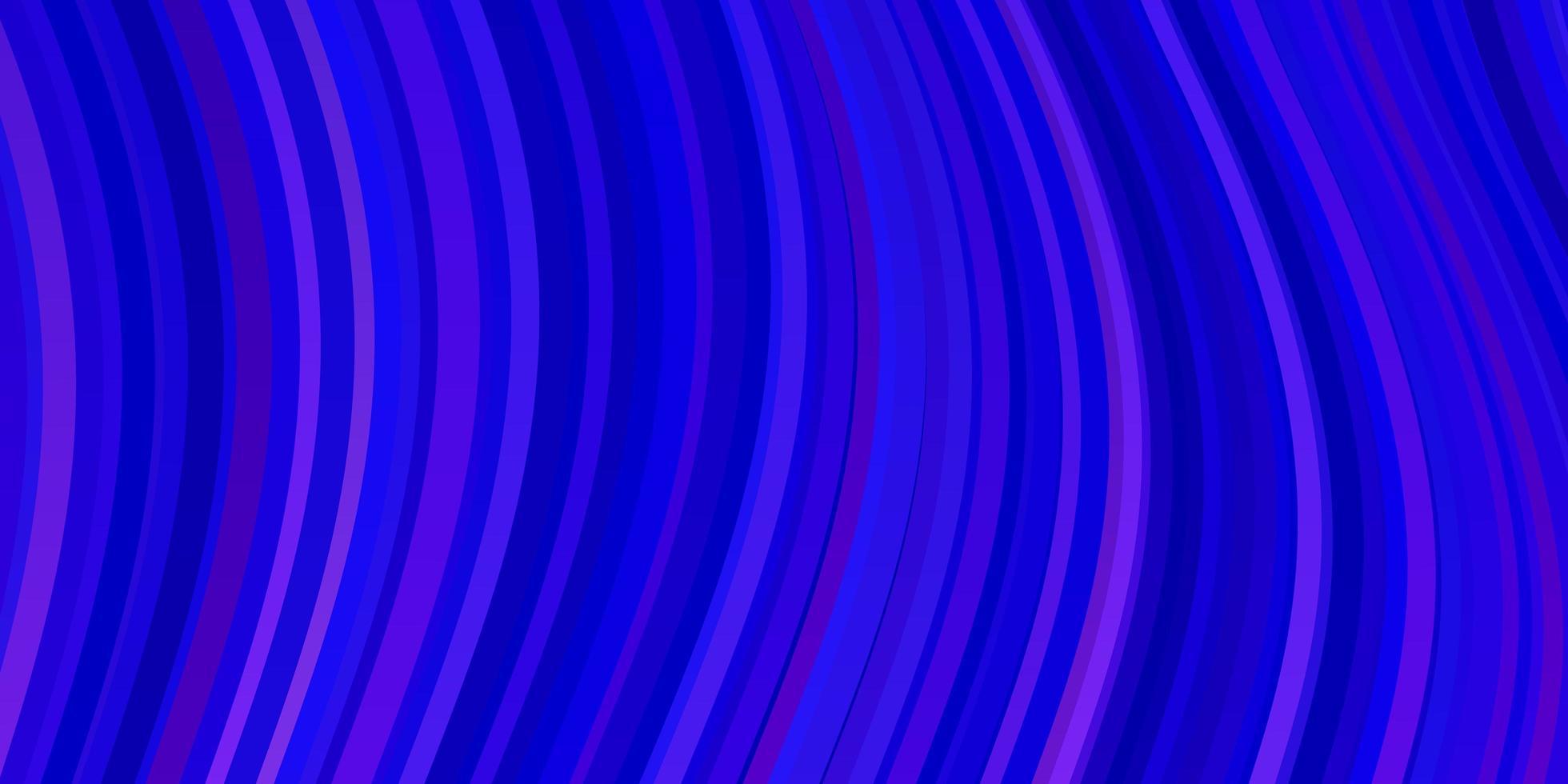 ljusrosa, blå vektormönster med kurvor. vektor