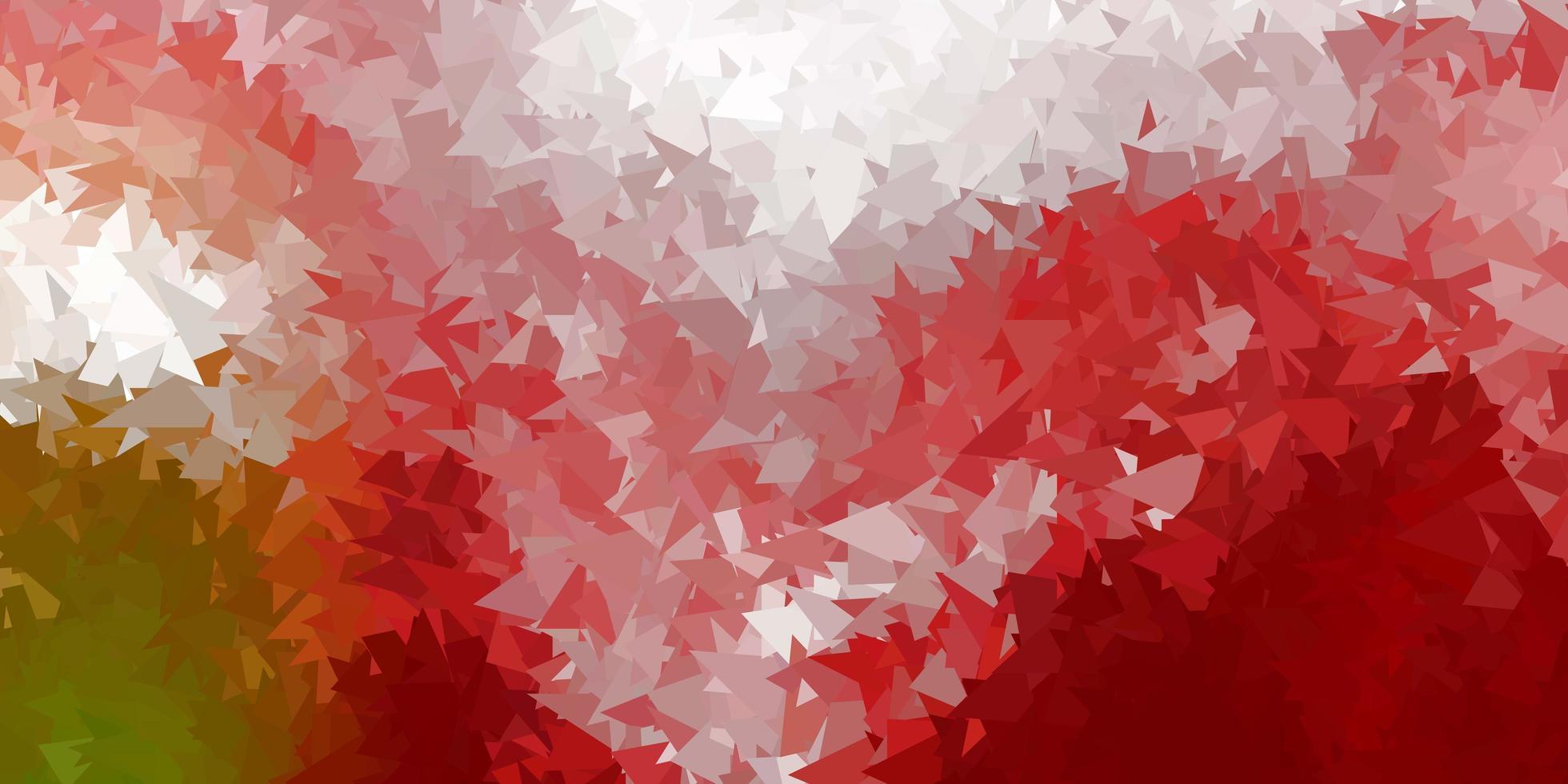 mörkgrön, röd vektor polygonal bakgrund.