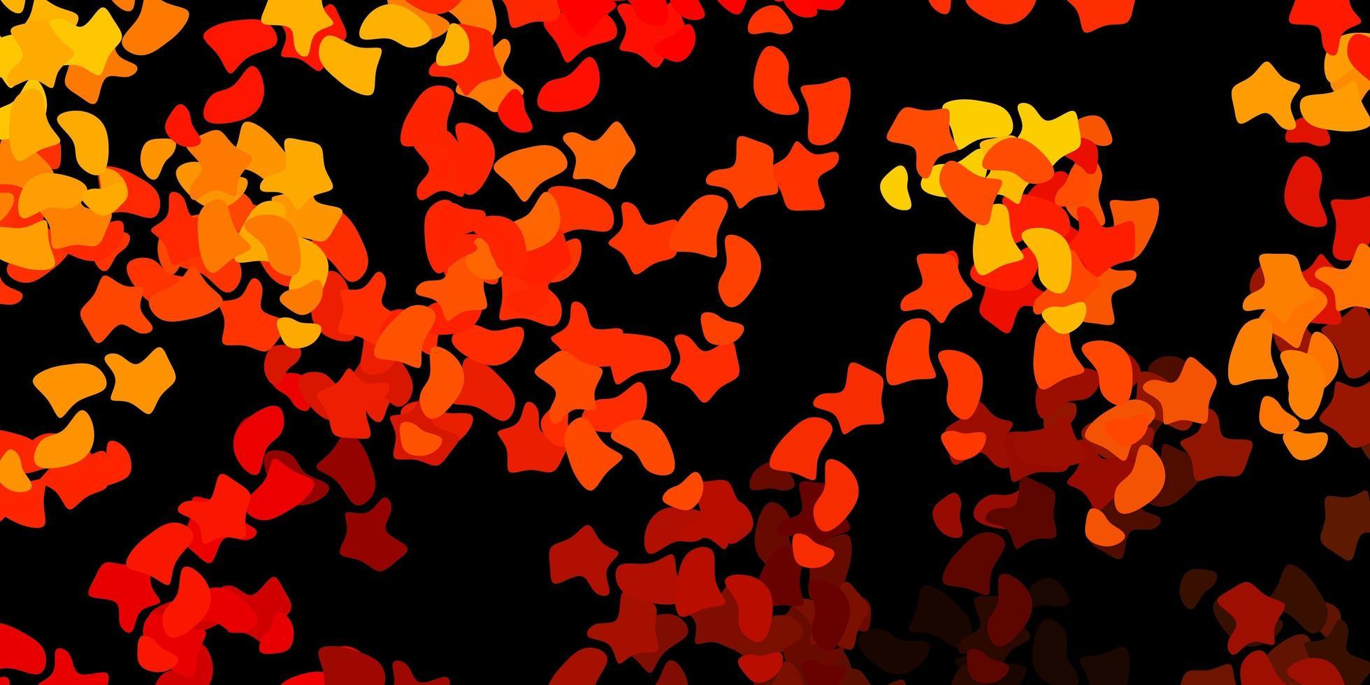 mörk orange vektor bakgrund med slumpmässiga former.