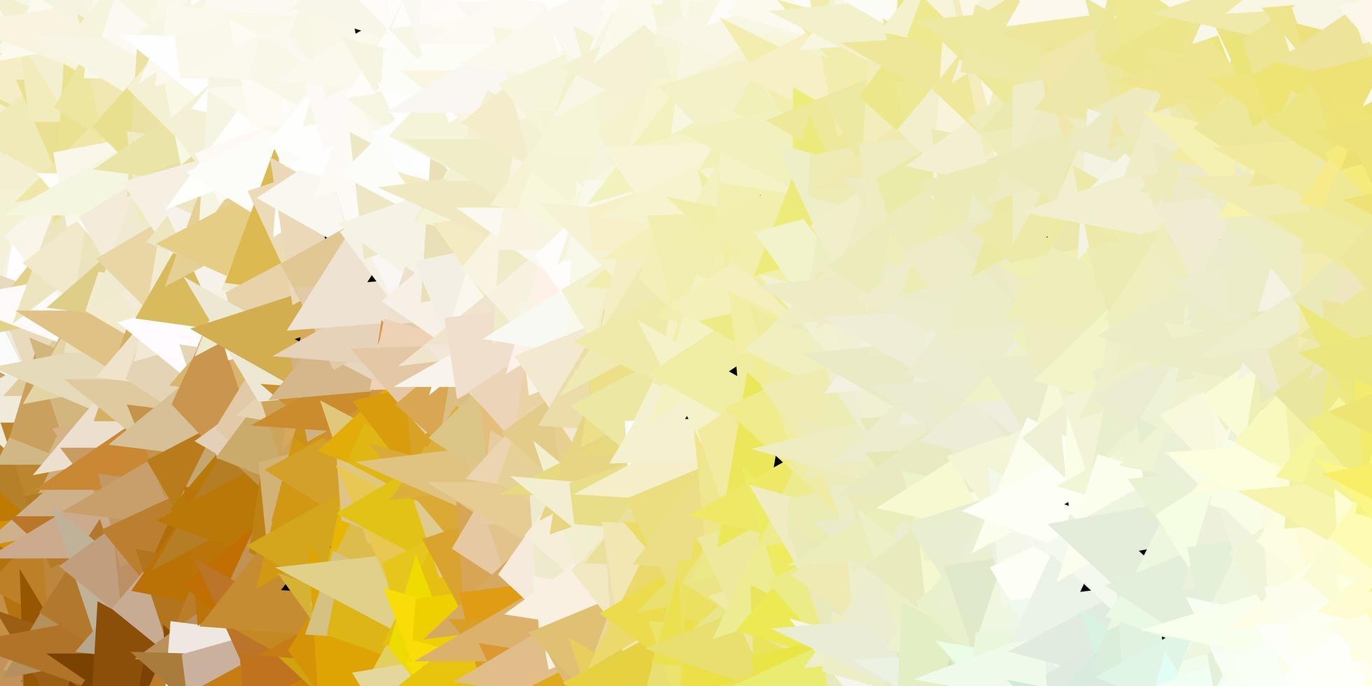 ljusblå, gul vektor geometrisk månghörnigt layout.