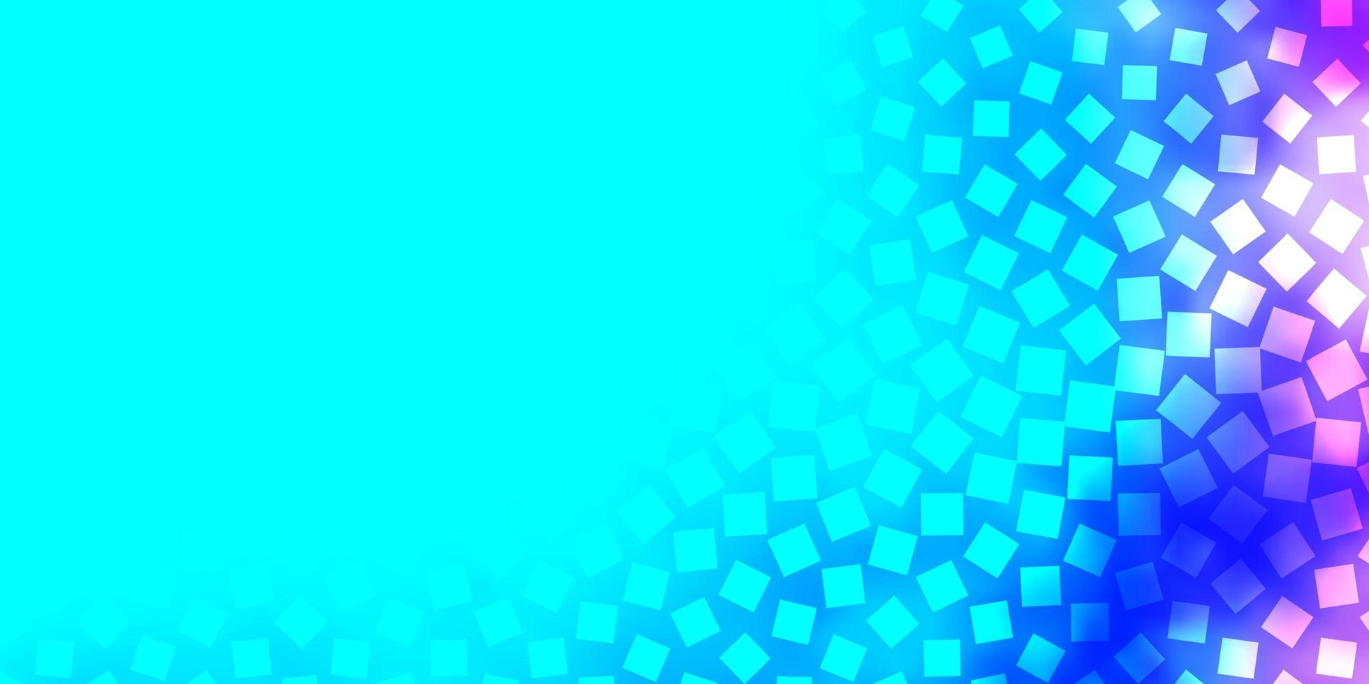 ljusrosa, blå vektorbakgrund med rektanglar. vektor