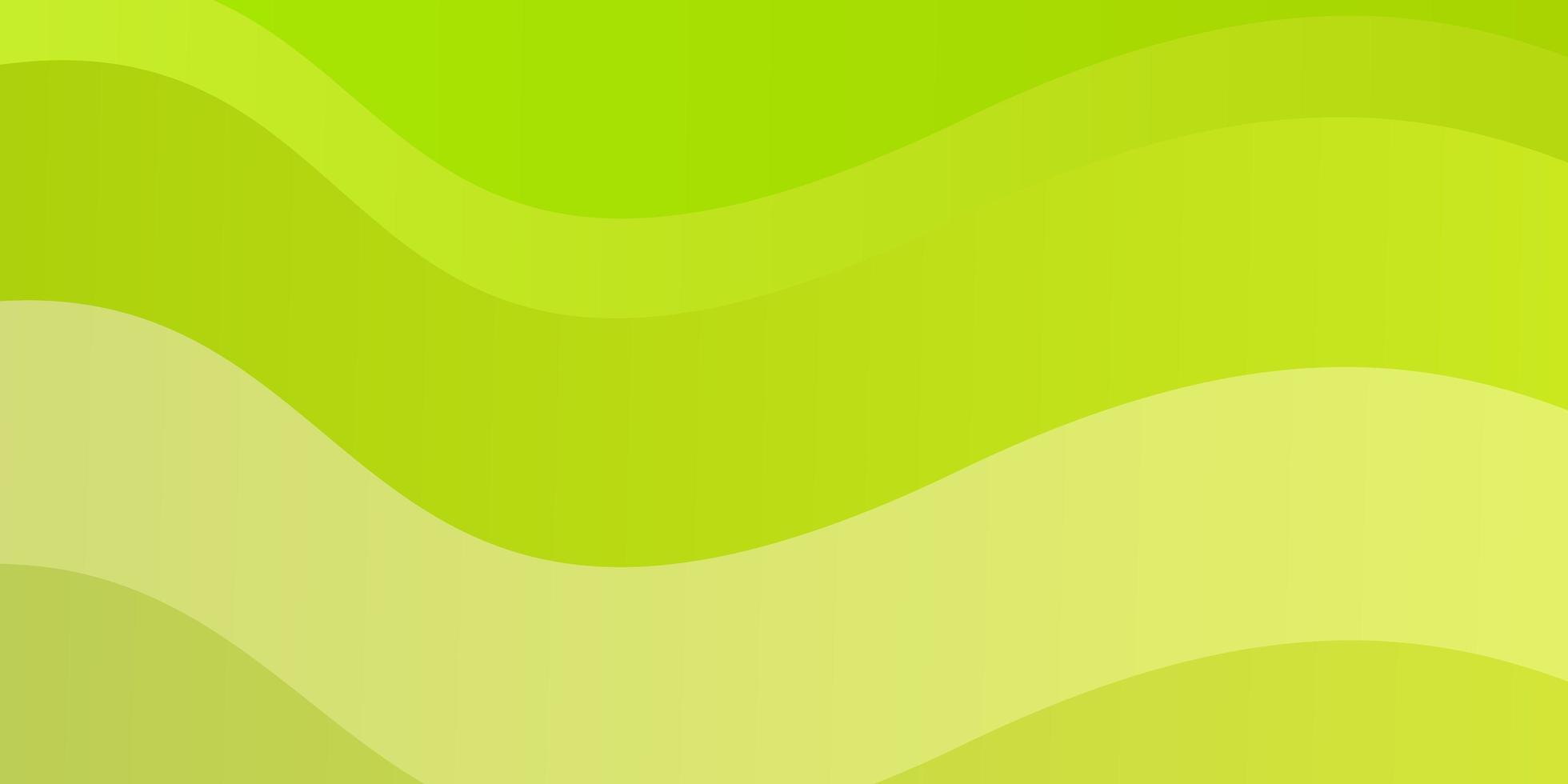 ljusgrön, gul vektorbakgrund med kurvor. vektor