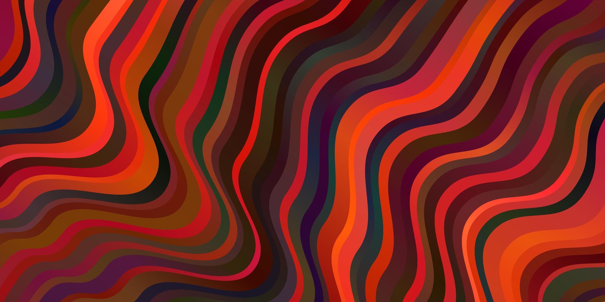 dunkelorange Vektorlayout mit schiefen Linien. vektor