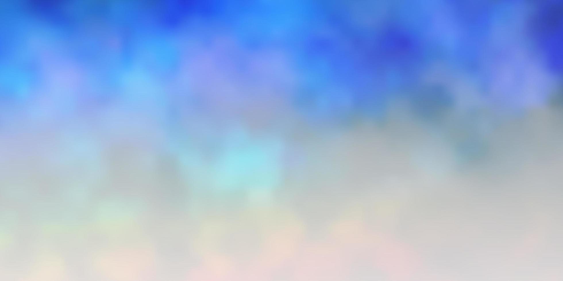 dunkles mehrfarbiges Vektorlayout mit Wolkenlandschaft. vektor
