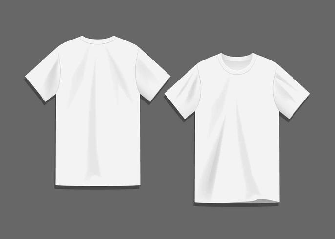 Weißer leerer T-Shirt Schablonen-Vektor vektor