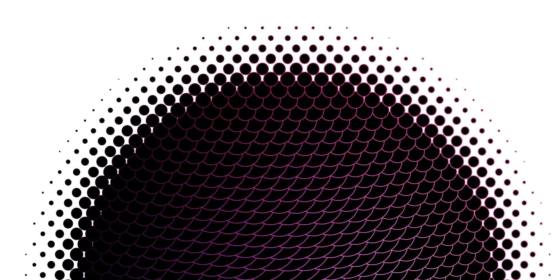 ljuslila, rosa vektorlayout med cirkelformer. vektor