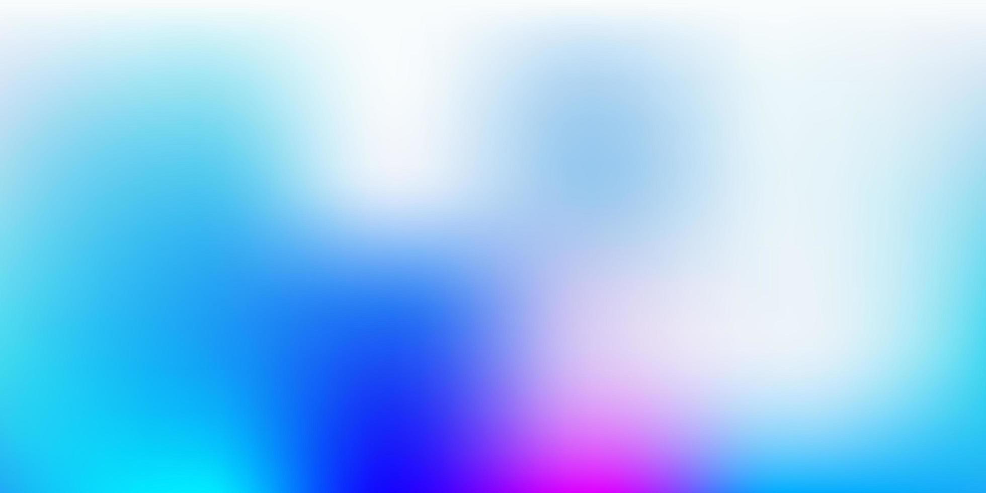 hellrosa, blaue Vektorunschärfe Layout. vektor