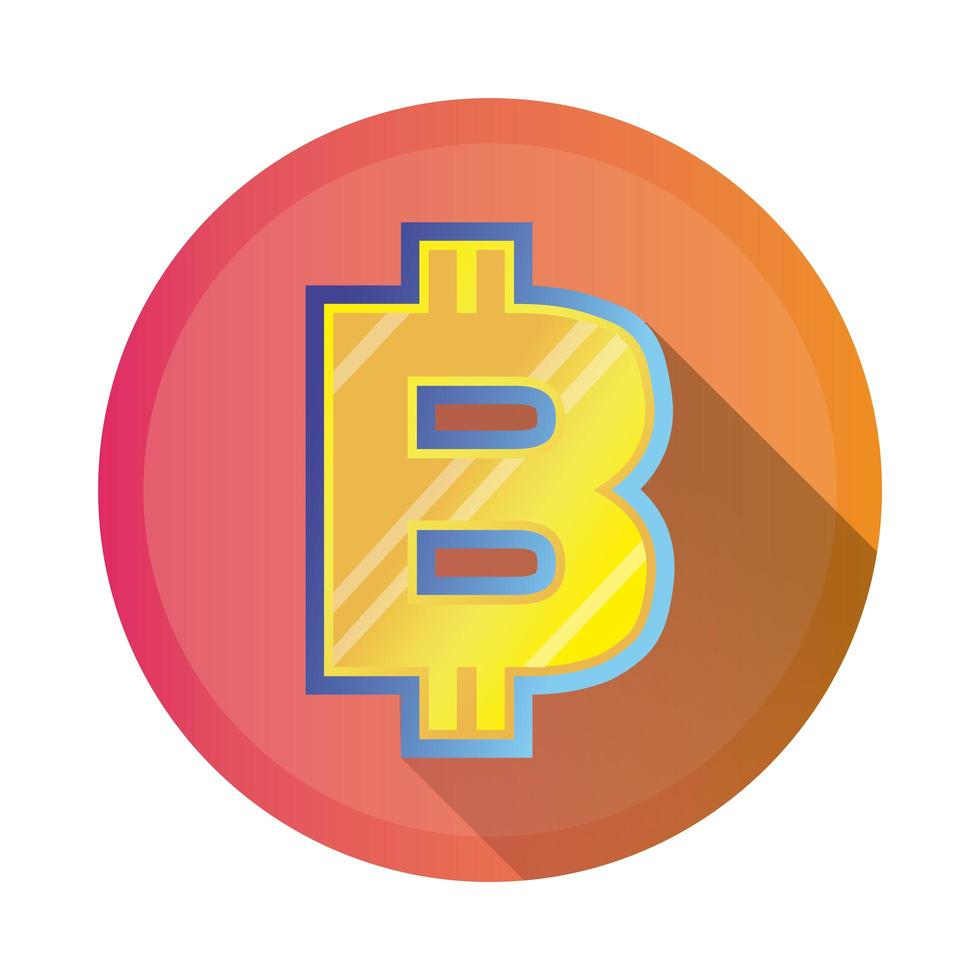 bitcoin symbol detaljerad stilikon vektor